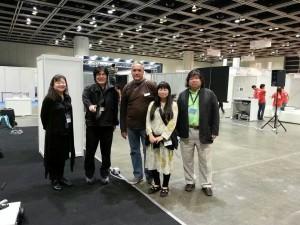 Mark Chavez with Tomoe Moriyama and Yoichiro Kawaguchi